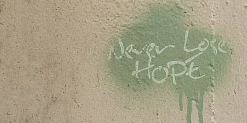 never lose hope painted on wall
